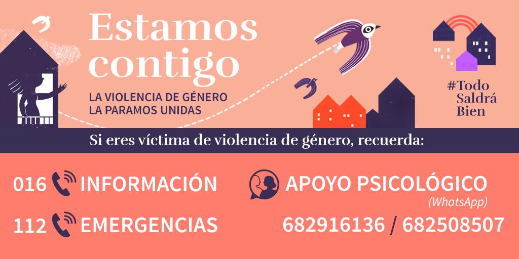 campaña #estamoscontigo la violencia de género paramos unidas ministerio de igualdad