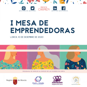 cartel de la primera mesa de emprendedoras del Proyecto Carmen
