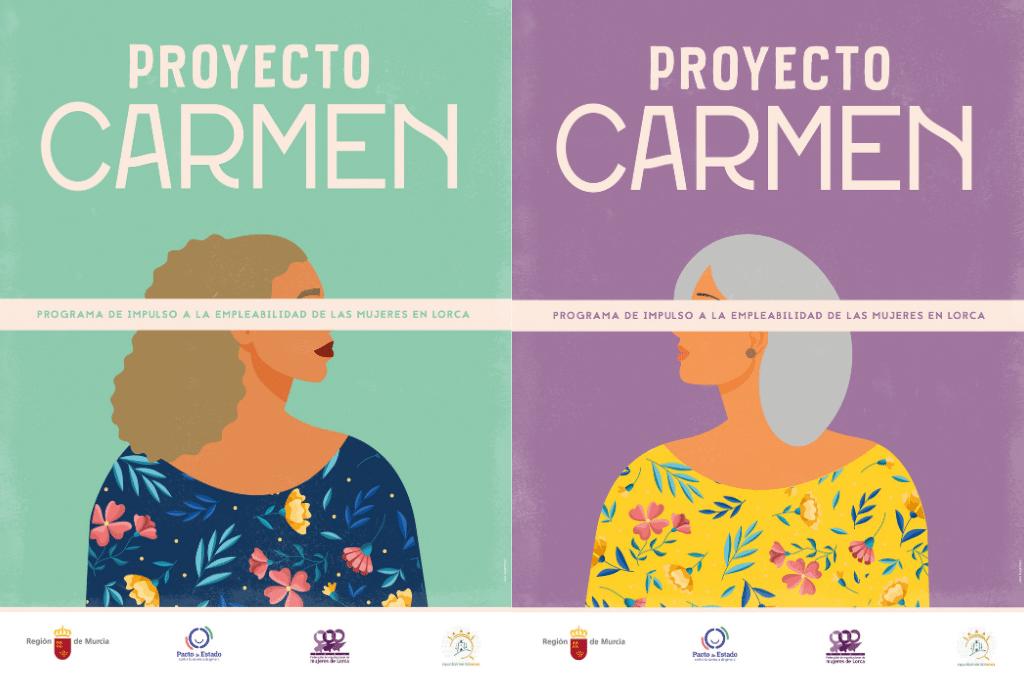 CARTEL DEL PROYECTO CARMEN proyecto de empleabilidad para mujeres