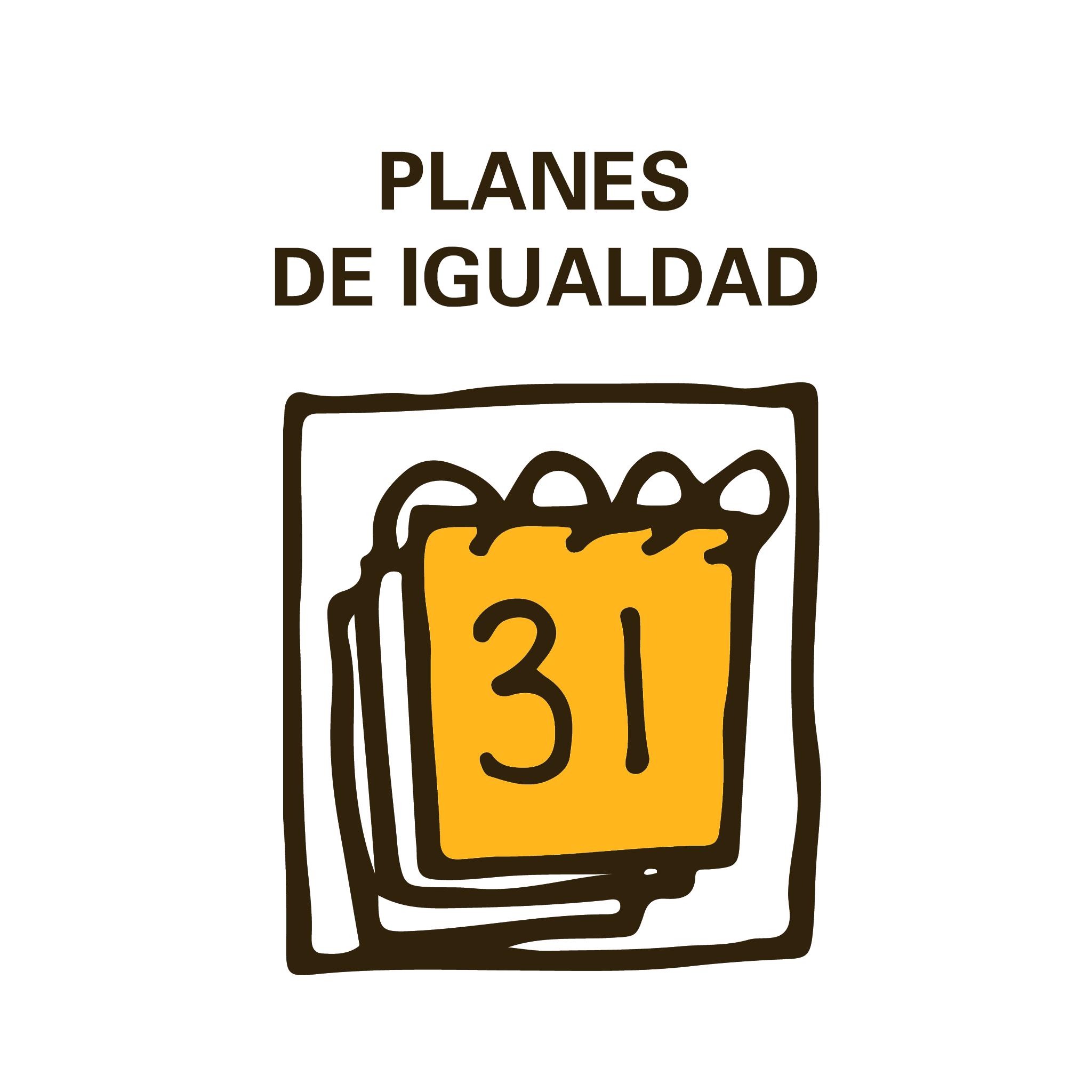 imagen de un calendario y el texto planes de igualdad