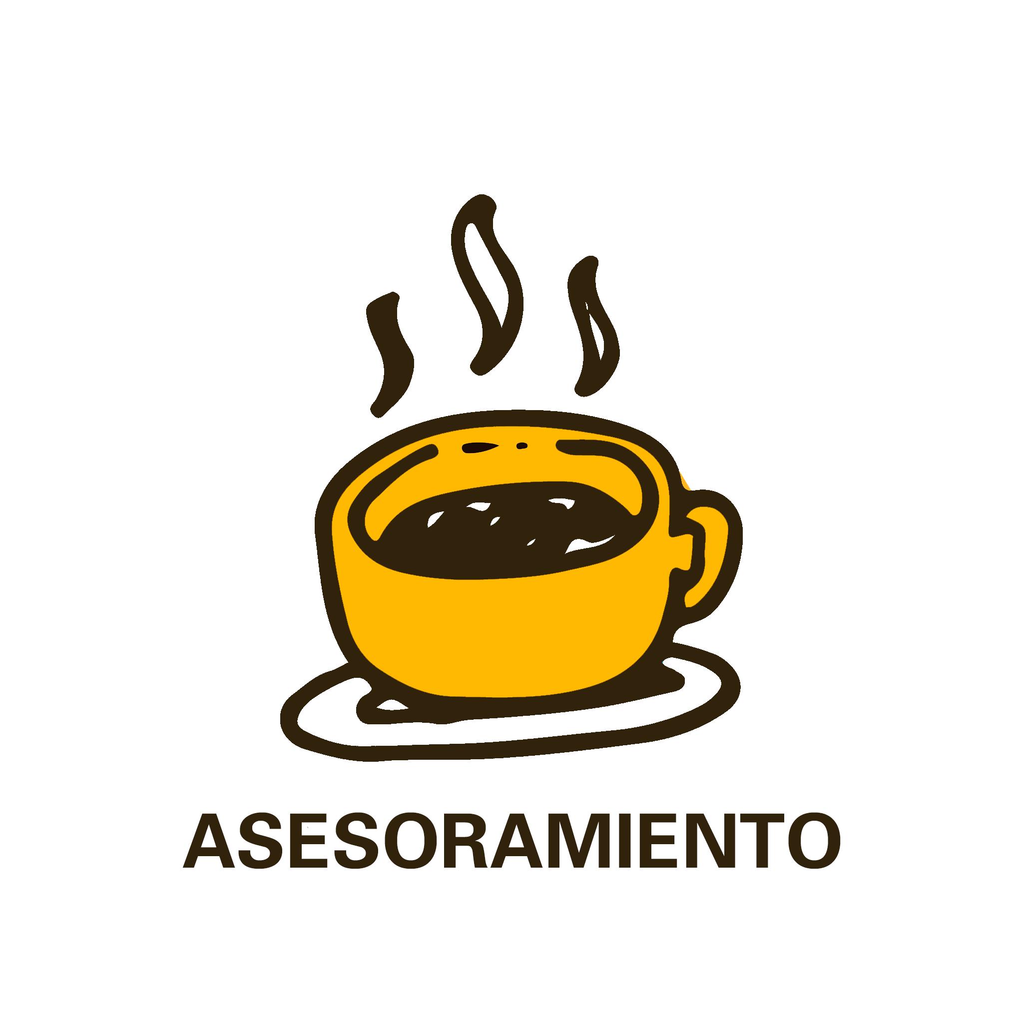 café caliente con la palabra asesoramiento